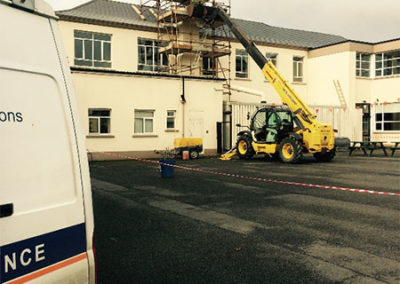 Chimney repair at secondary school